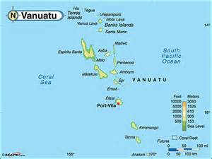 Vanuatu On World Map
