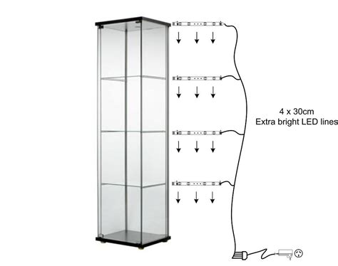 glass cabinet with lights ready to go led lights for glass display cabinet extra