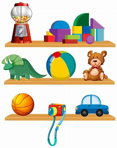 Toys Shelf Vector Toy Shelves Clipart Drawing