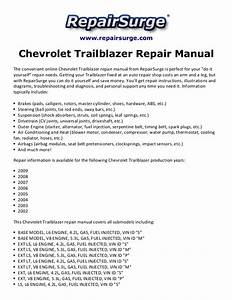 Chevrolet Trailblazer Repair Manual 2002