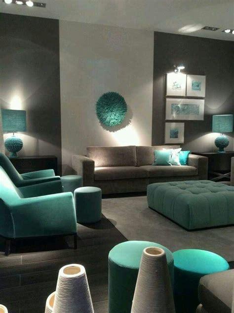sala azul  gris decoracion  el hogar salones
