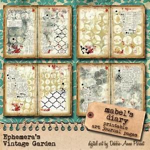 Garden Diary Planner Mabel 39 S Diary Art Journal Kit Ephemera 39 S Vintage Garden