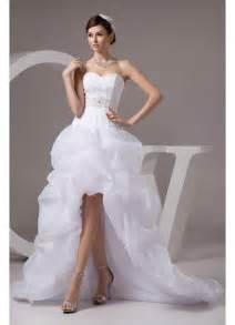 hi low bridesmaid dresses whiteazalea high low dresses organza sweetheart high low wedding dress