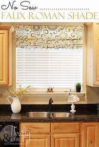 No sew faux roman shade that can actually move and drop for Curtains that look like roman shades