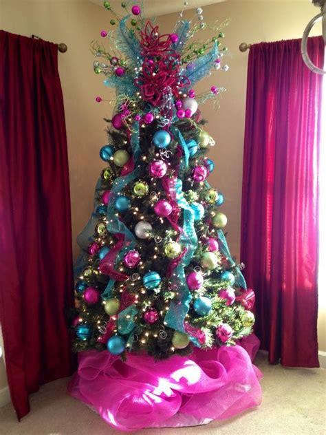 pink christmas tree ideas  pinterest pink