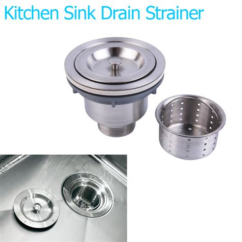 Kitchen Sink Strainer Wrench by Stainless Steel Basin Drain Sink Waste Strainer Basket