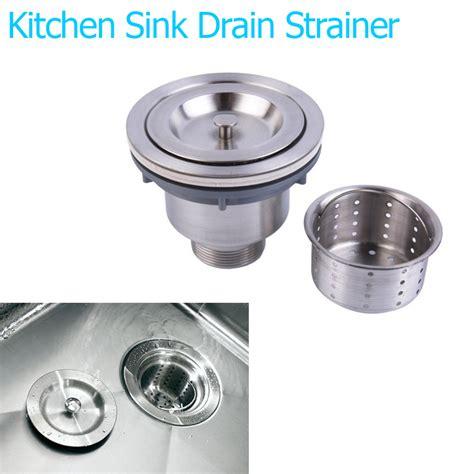 kitchen sink strainer wrench stainless steel basin drain sink waste strainer basket
