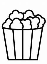 Popcorn Coloring Vormen Eten Kleurplaat Shapes Kleurplaten Malvorlage Stemmen Stimmen sketch template