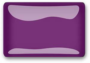 Purple Glossy Rectangle Button Clip Art at Clker.com ...