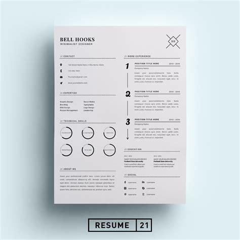 minimal graphic design resume world of reference