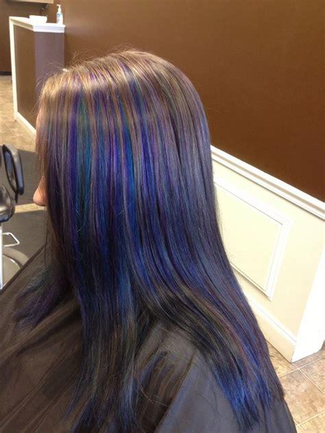 Peacock Hair Color Purple Hair Blue Hair Stuff