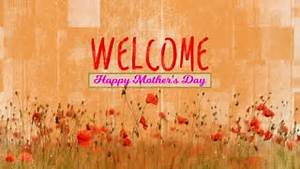 Welcome Background. Happy Mother's Day. Purple Flowers ...