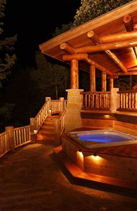 log cabin in with tubs 1000 ideas about cabin decks on lake houses