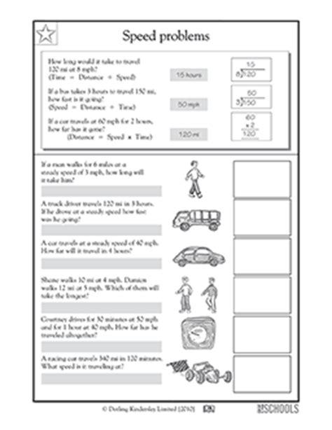 4th grade math worksheets calculating speed 2 greatschools