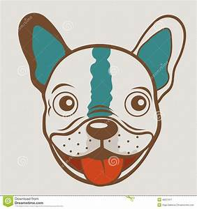 French Bulldog Funny Face Stock Vector - Image: 48251917