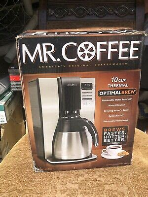 Brews 10 cups in less than 7 minutes to ensure thorough extraction and full bodied flavor, which is considered by coffee experts to be the optimal time for extraction. Mr. Coffee BVMC-PSTX91 10 Cup Thermal Optimal Brew   eBay