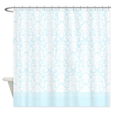 blue damask shower curtain by inspirationzstore