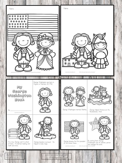 george washington worksheets  kindergarten