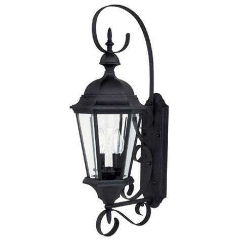 carriage house medium black outdoor wall mount capital