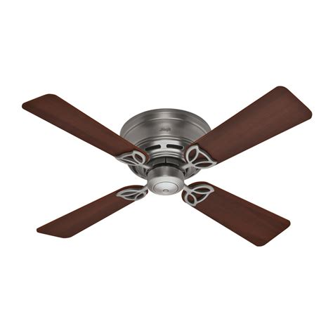 shop hunter 42 in low profile iii antique pewter ceiling