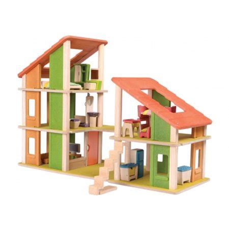 plan toys dollhouse furniture sale plan toys chalet dollhouse with furniture walmart