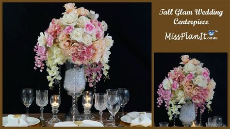 diy tall glam wedding centerpiece diy glamorous wedding