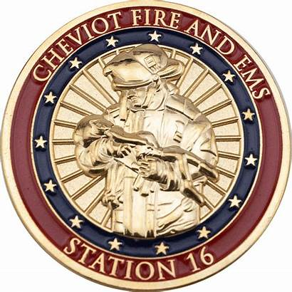 Coins Challenge Fire Firefighter Department Lafd Coin