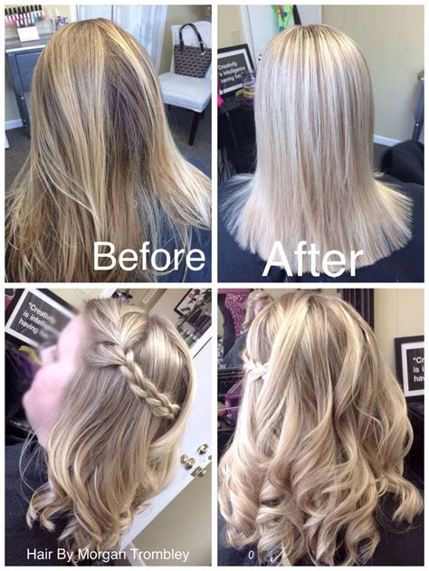 icy blonde highlights hair  morgan trombley