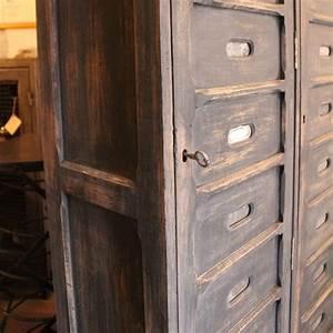 Mobilier Industriel Ancien : mobilier industriel ancien meuble de notaire en bois ~ Teatrodelosmanantiales.com Idées de Décoration