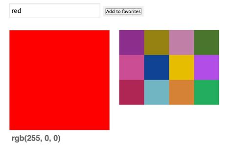 color js colour the preview area