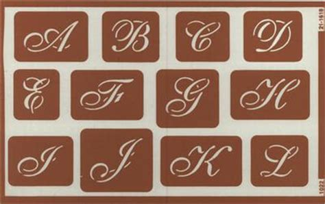 script alphabet  holiday  stencils