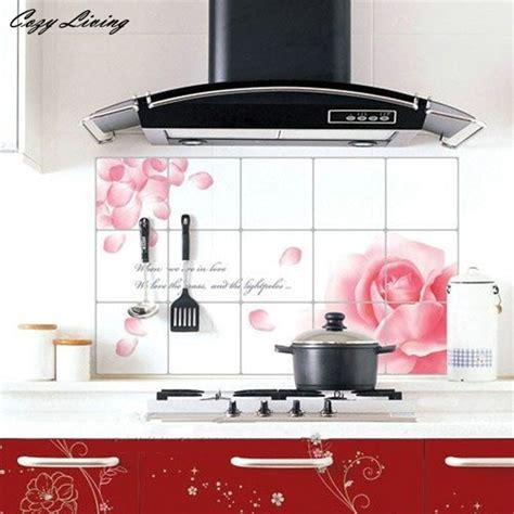 wall stickers for kitchen design wall stickers diy kitchen decor house decals aluminum foil 8887