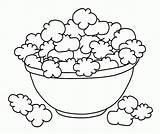 Popcorn Coloring Pages Bowl Printable Food Print Drawing Template Colouring Ocoloring Shopkins Cookie Para Corn Sheets Box Bucket Draw Dough sketch template