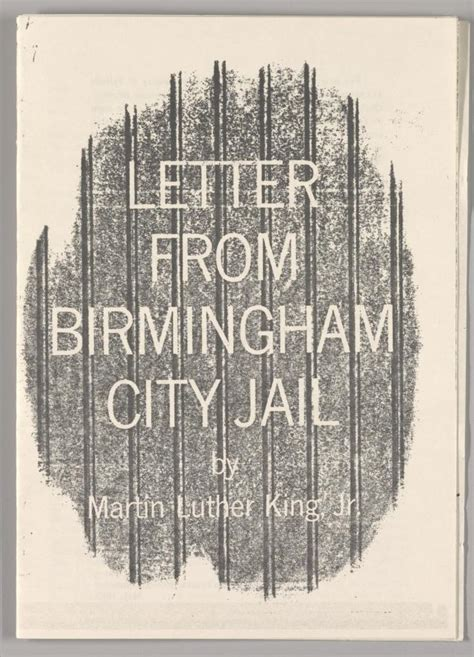 letter from birmingham city jail the martin luther king