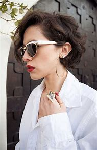 Short Curly Hairstyles with Glasses