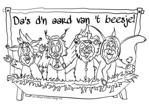 Hondenhoofd Kleurplaat by Bouwplaats Kleurplaat