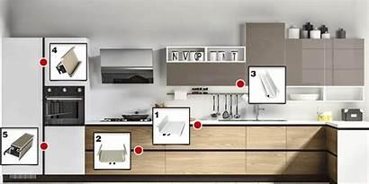 Gola Kitchen Cabinet Aluminum Unit Profiles