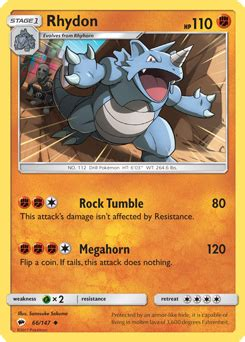 In red rescue team and blue rescue team, and explorers of time, darkness and sky, stomp is a move with 12 base power, 90% accuracy, and 17 pp. Rhydon | XY | TCG Card Database | Pokemon.com