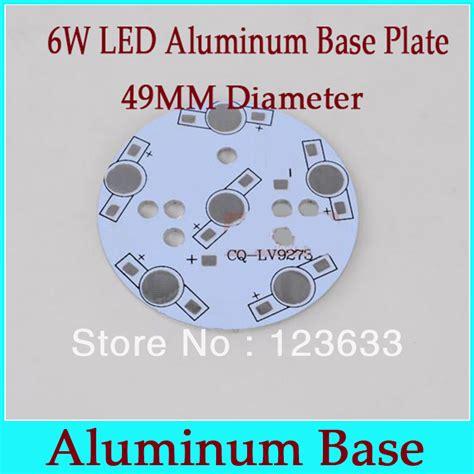 Unids Redondo Blanco Placa Base Aluminio