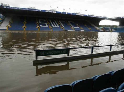 sheffield wednesdays hillsborough ground  flooded