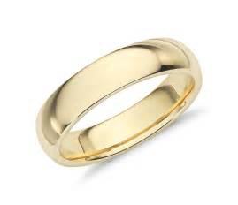 gold wedding ring comfort fit wedding ring in 18k yellow gold 5mm blue nile