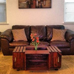 Milk crate coffee table woodwork pinterest for Milk crate coffee table