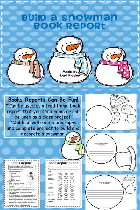 images  snowman printable book report template
