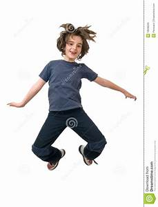 Happy Child Jumping Stock Photo - Image: 18598220