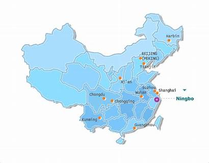 China Ningbo Got Map Beauty Let Way