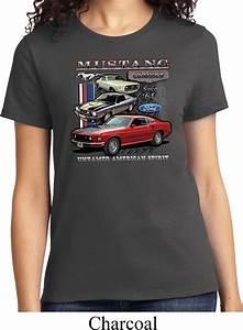 Ladies Ford Tee Classic Mustangs Untamed T-shirt - Ford Classic Mustangs Untamed Ladies Shirts