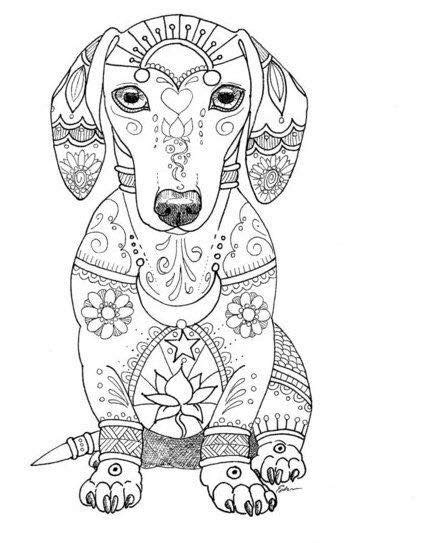 coloring page bob dachshund love dog coloring page