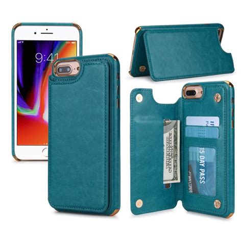 Leather case for iphone 6 and 7 with credit card slots brand new never opened! Dteck Wallet Case For iPhone 8 Plus / 7 Plus / 6s Plus / 6 Plus 5.5 inch, Slim Shockproof ...