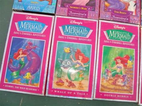 lot 8 walt disney vhs mermaid princess collection sing along ebay