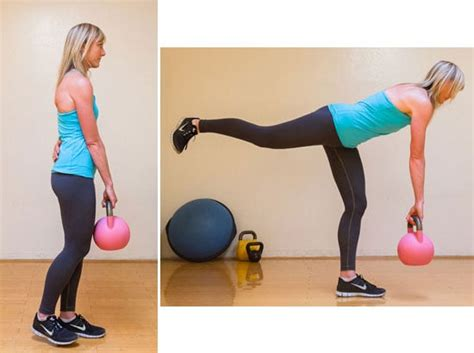 kettlebell leg deadlift single exercises butt raise weight workout lift hamstring bum glutes fitness exercise both straight lifts works ground